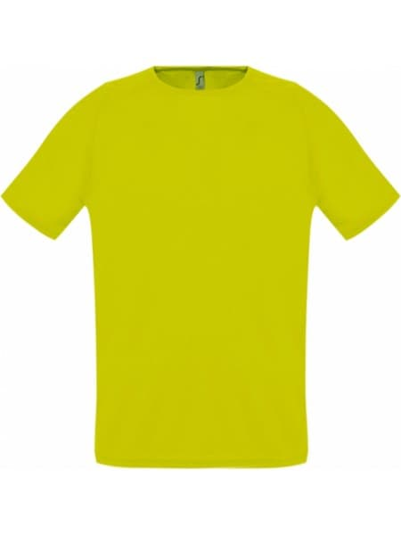 Футболка унисекс SPORTY 140, желтый неон