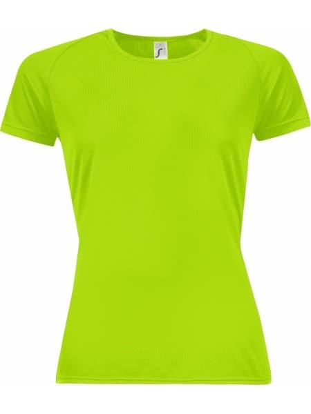 Футболка женская SPORTY WOMEN 140, зеленый неон