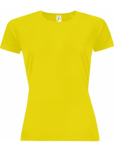 Футболка женская SPORTY WOMEN 140, желтый неон
