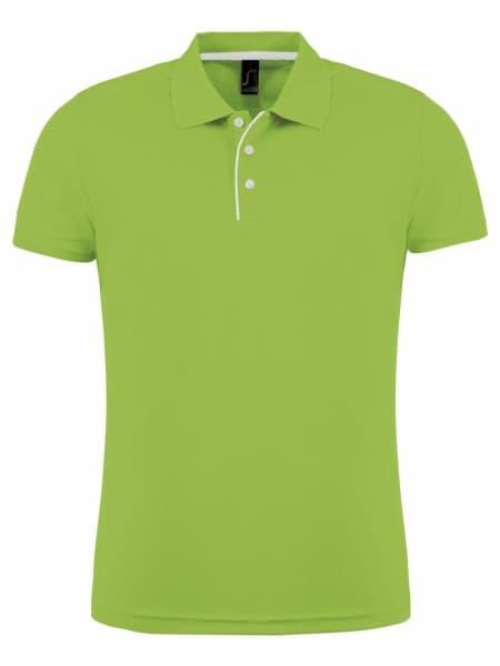 Рубашка поло мужская PERFORMER MEN 180 зеленое яблоко