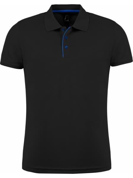 Рубашка поло мужская PERFORMER MEN 180 черная