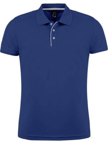 Рубашка поло мужская PERFORMER MEN 180 темно-синяя