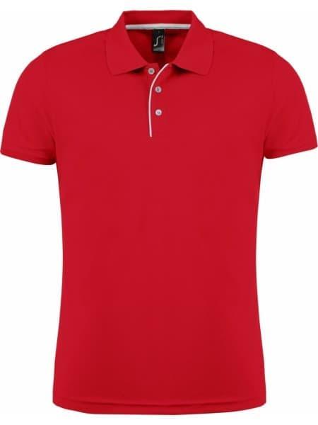 Рубашка поло мужская PERFORMER MEN 180 красная