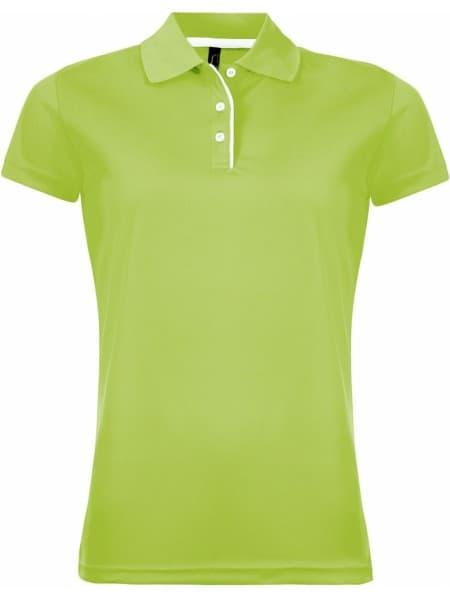 Рубашка поло женская PERFORMER WOMEN 180 зеленое яблоко