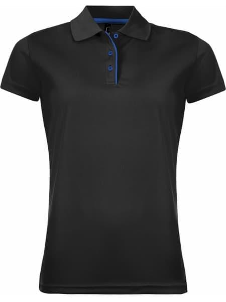 Рубашка поло женская PERFORMER WOMEN 180 черная