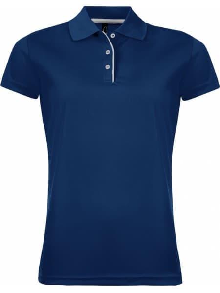 Рубашка поло женская PERFORMER WOMEN 180 темно-синяя