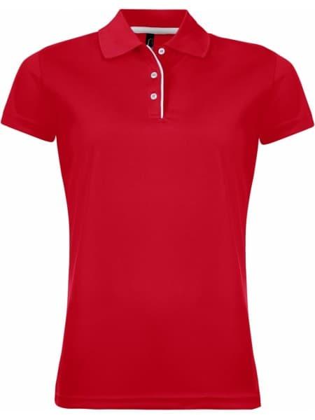 Рубашка поло женская PERFORMER WOMEN 180 красная