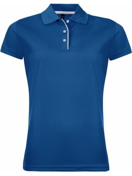 Рубашка поло женская PERFORMER WOMEN 180 ярко-синяя