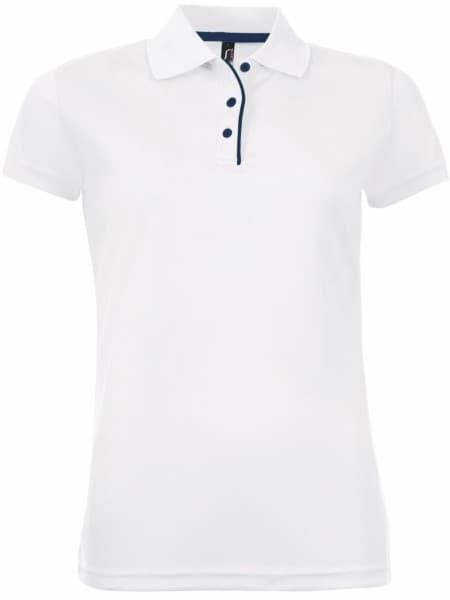 Рубашка поло женская PERFORMER WOMEN 180 белая