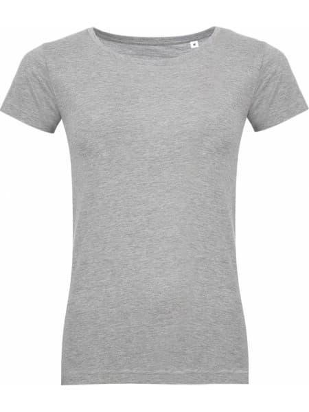Футболка женская MIXED WOMEN 150 светло-серый меланж