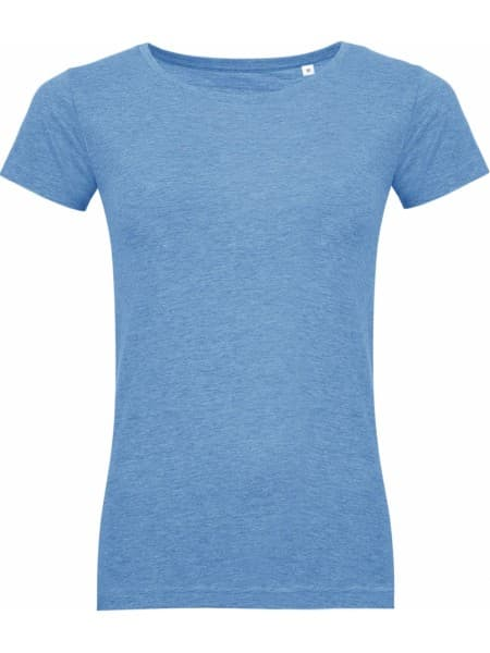 Футболка женская MIXED WOMEN голубой меланж