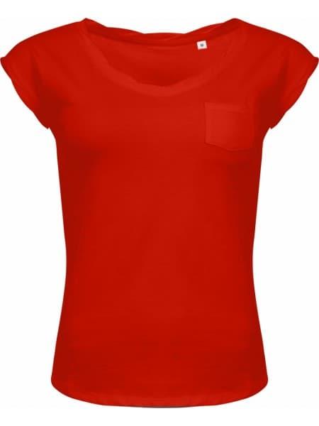 Футболка женская MOD WOMEN 150 оранжево-красная