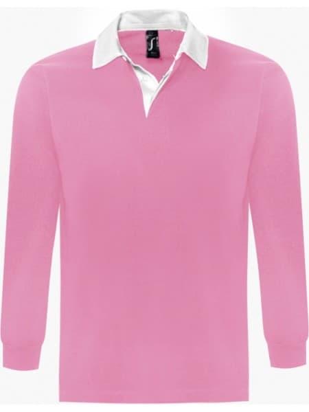 Рубашка поло мужская с длинным рукавом PACK 280 розовая
