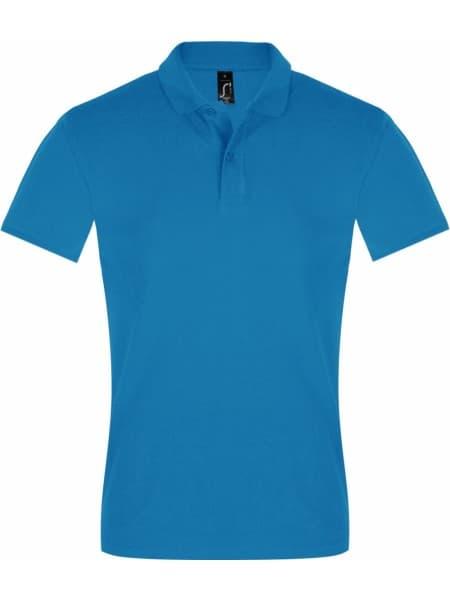 Рубашка поло мужская PERFECT MEN 180 бирюзовая
