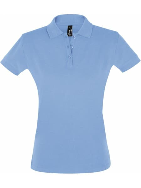 Рубашка поло женская PERFECT WOMEN 180 голубая