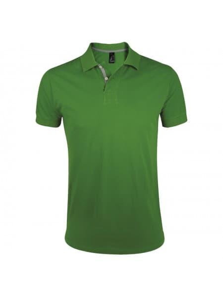 Рубашка поло мужская PORTLAND MEN 200 зеленая