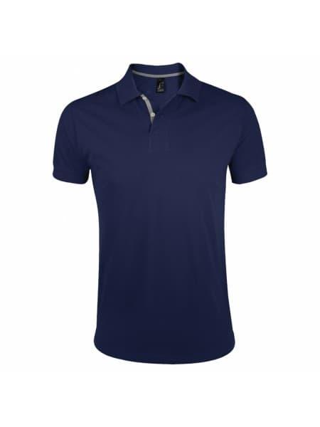 Рубашка поло мужская PORTLAND MEN 200 темно-синяя