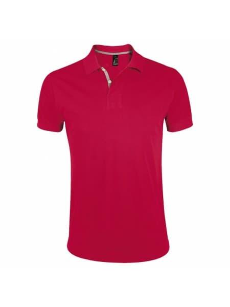 Рубашка поло мужская PORTLAND MEN 200 красная