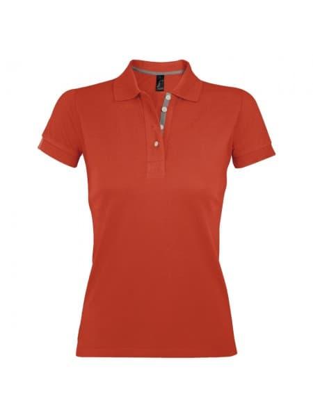 Рубашка поло женская PORTLAND WOMEN 200 оранжевая