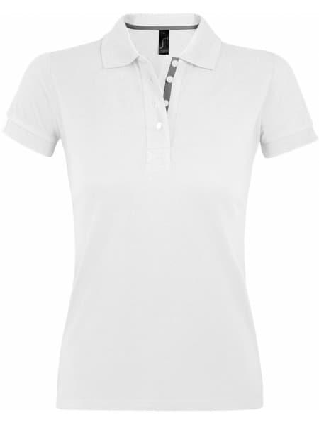 Рубашка поло женская PORTLAND WOMEN 200 белая