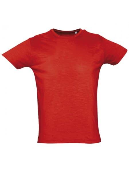 Футболка мужская FIRST 150, оранжево-красная