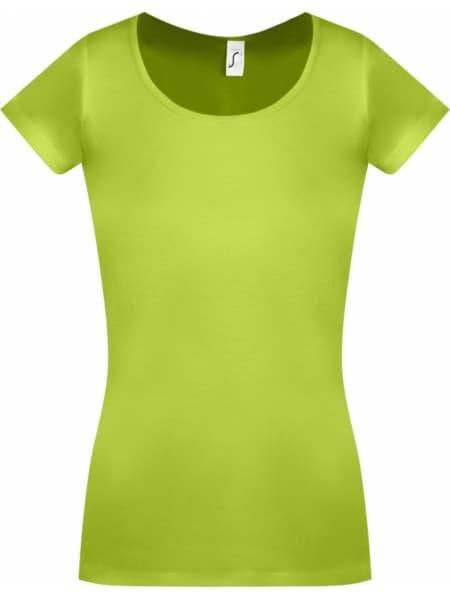 Футболка женская MOODY зеленое яблоко
