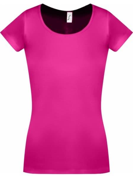 Футболка женская MOODY 160 ярко-розовая