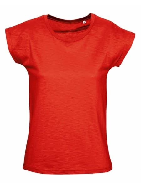Футболка женская SCOOP 150 оранжево-красная
