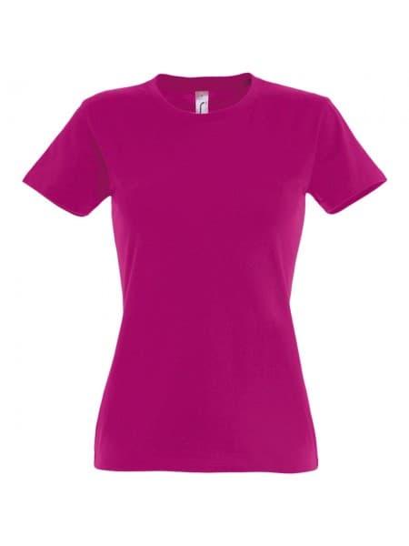 Футболка женская Imperial Women 190, ярко-розовая (фуксия)