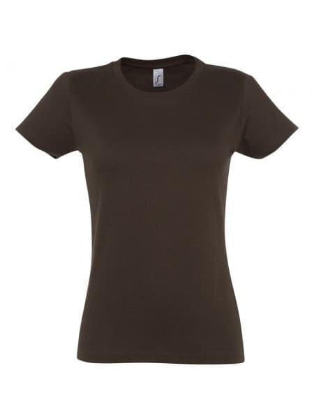 Футболка женская Imperial Women 190, шоколадно-коричневая