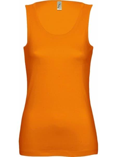 Майка женская JANE 150, оранжевая
