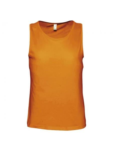 Майка мужская JUSTIN 150, оранжевая