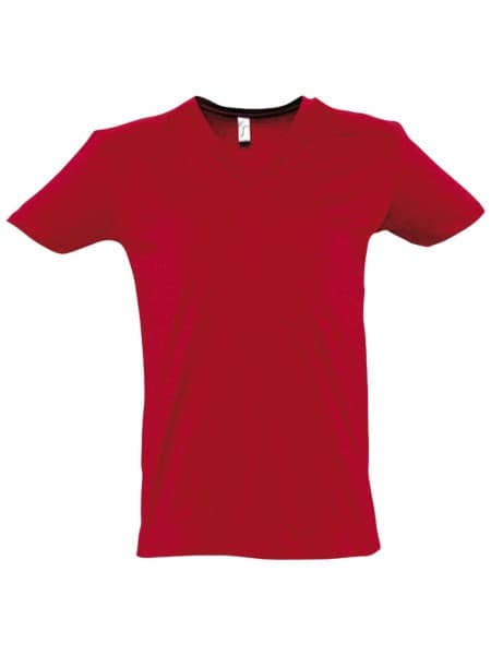 Футболка мужская MASTER 150 с глубоким V-обр. вырезом, красная