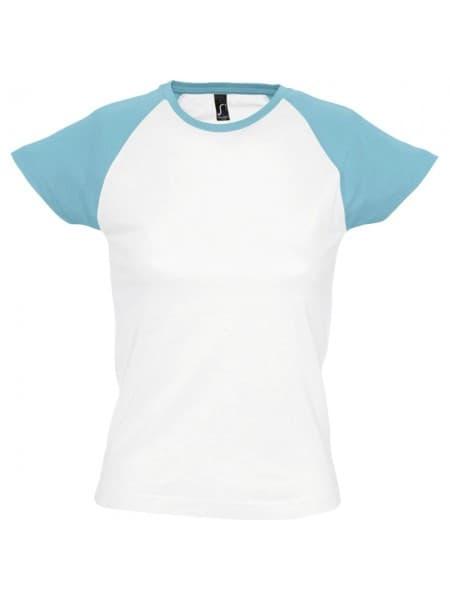 Футболка женская MILKY 150, белая с голубым