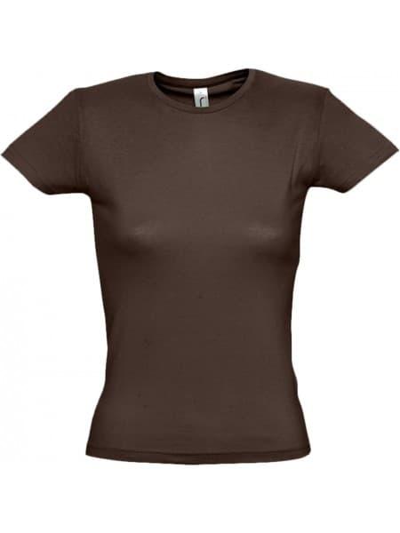 Футболка женская MISS 150, шоколадно-коричневая