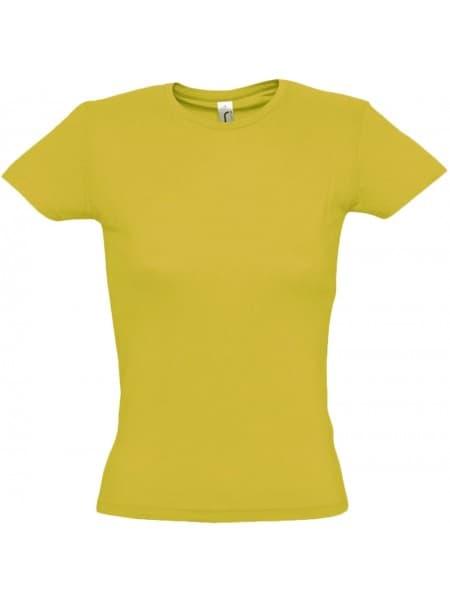 Футболка женская MISS 150, желтая (горчичная)