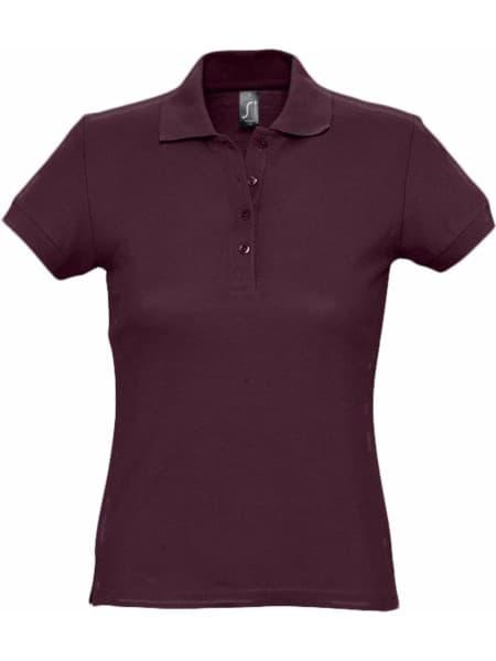 Рубашка поло женская PASSION 170, бордовая