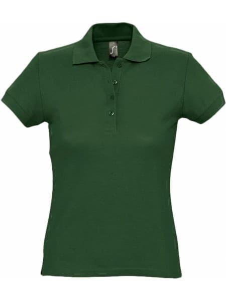 Рубашка поло женская PASSION 170, темно-зеленая