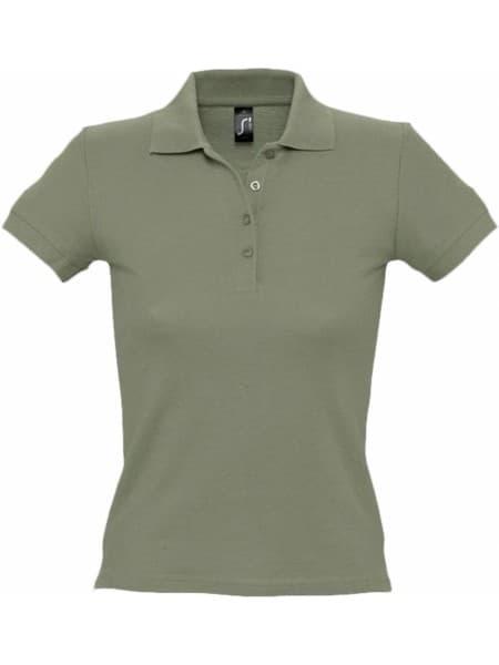 Рубашка поло женская PEOPLE 210, хаки