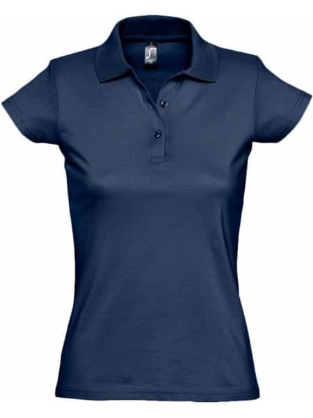 Рубашка поло женская Prescott Women 170, кобальт (темно-синяя)