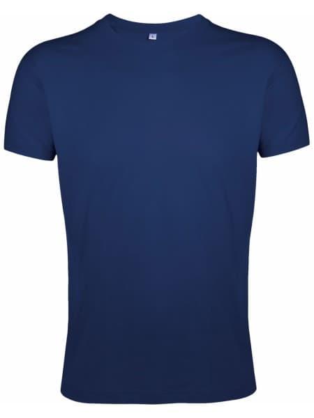 Футболка мужская приталенная REGENT FIT 150, кобальт (темно-синяя)