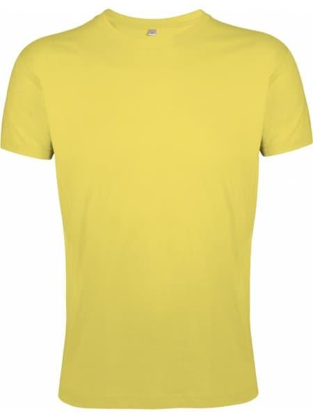 Футболка мужская приталенная REGENT FIT 150, желтая (горчичная)
