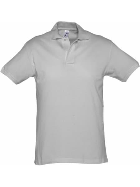 Рубашка поло мужская SPIRIT 240, серый меланж