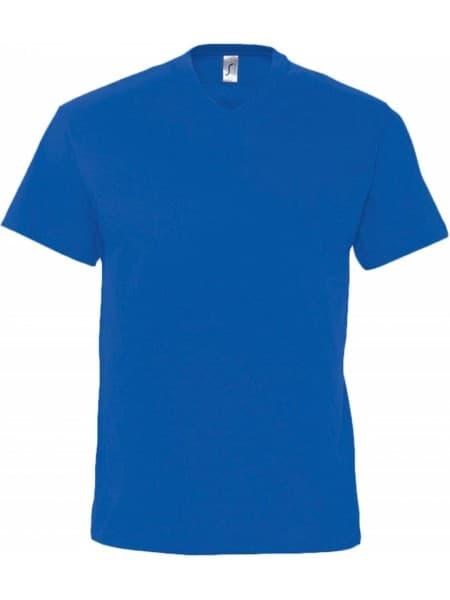 Футболка мужская с V-обр. вырезом VICTORY 150, ярко-синяя (royal)