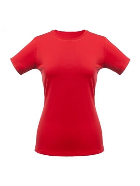Футболка женская T-bolka Stretch Lady, красная