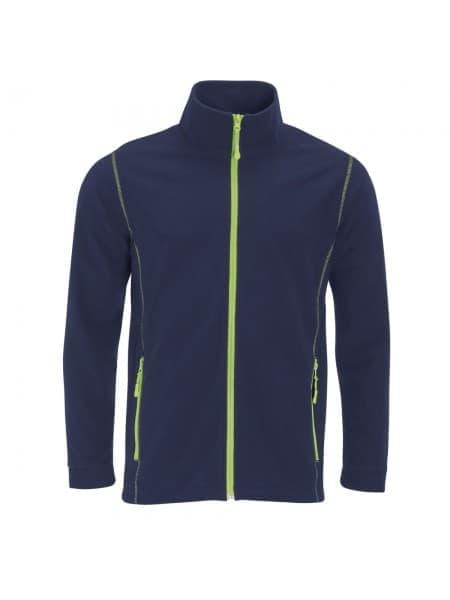 Куртка мужская NOVA MEN 200, темно-синяя с зеленым яблоком