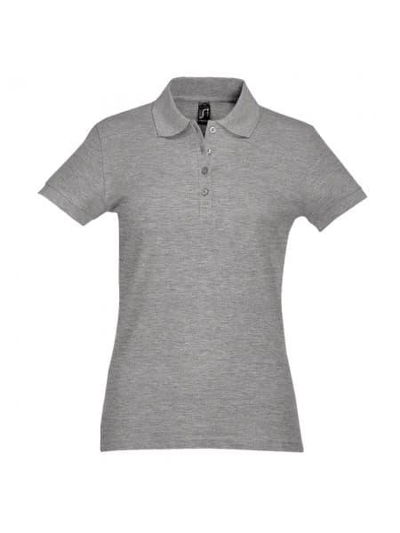 Рубашка поло женская PASSION 170, серый меланж