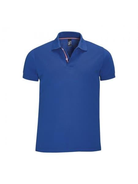 Рубашка поло мужская PATRIOT 200, ярко-синяя