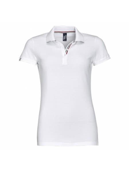 Рубашка поло PATRIOT WOMEN, белая с красным
