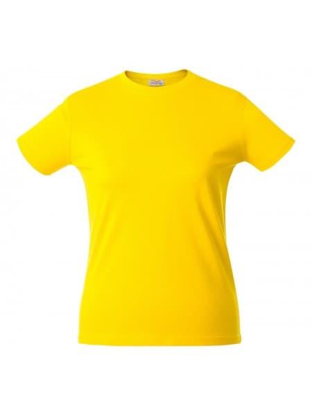 Футболка женская HEAVY LADY, желтая